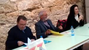 Mesa de la presentación del libro 'El exilio albeldense en Francia'