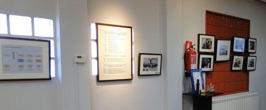 Un aspecto de la exposición 'Del Sindicat a la Cooperativa d'Alcampell' en los actos del centenario (foto Francesc Cussó)