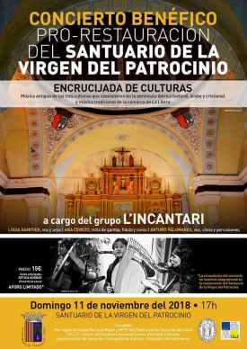 Cartel del concierto del grupo L'Incantari en Tamarite de Litera