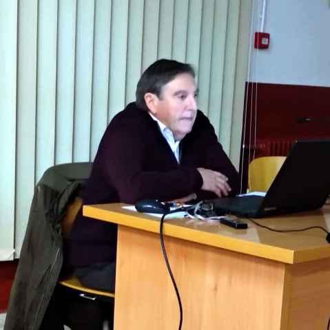 Enrique Corbera durante la presentación de LITTERA 5 en Tamarite de Litera