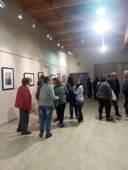Aspecto de la exposición 'Jaime Pla, un literano corresponsal en la guerra de Marruecos' en Binéfar (3) (foto Silvia Isábal)