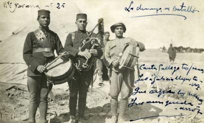 La charanga del batallón, ca. 1922 (foto Jaime Pla)