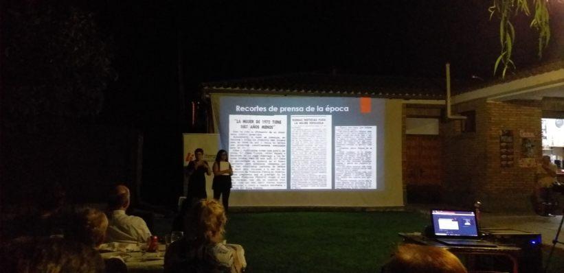 Un momento de la conferencia «El consultorio de Elena Francis en la Litera» en Alcampell (foto Pep Espluga)