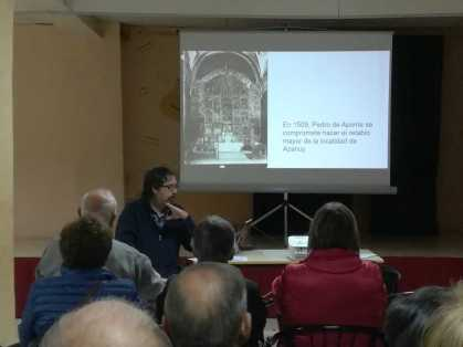 Aspecto parcial de la conferencia «Las artes plásticas de la época del barroco (ss. XVII-XVIII) en la comarca de la Litera» (foto Joan Rovira)