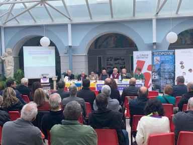 Presentación de la ponencia «Bases para la creación del Parque geólogico y minero de la Litera y la Ribagorza», vista general (foto Imma Gracia / La Litera información)