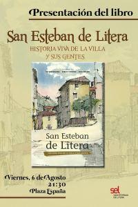 Cartel de la presentación del libro sobre San Esteban de Litera
