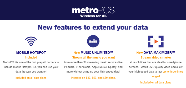 MetroPCS Customers Getting Unlimited Music & More Data
