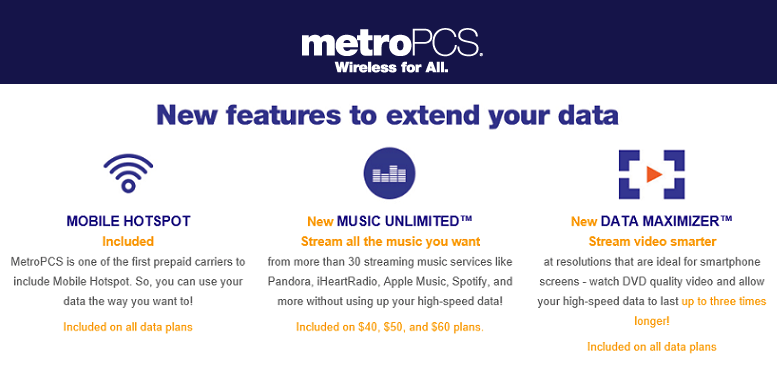 MetroPCS Customers Getting Unlimited Music & More Data Lasting
