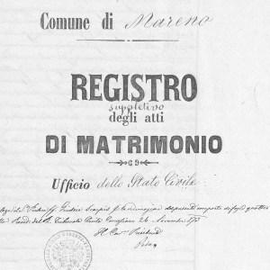 marriage certificate italian document record