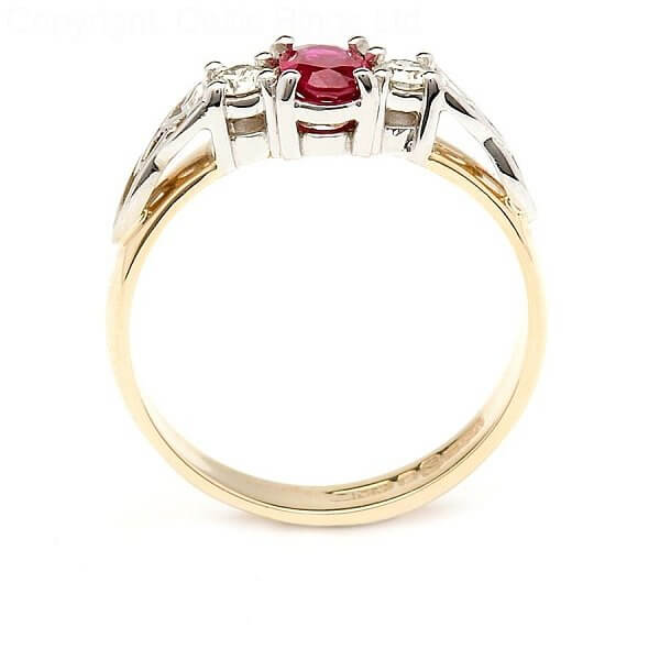 Ruby Engagement Ring With Trinity Knots Celtic Rings Ltd