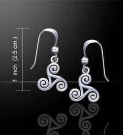 Celtic Spiral Ladies Earrings