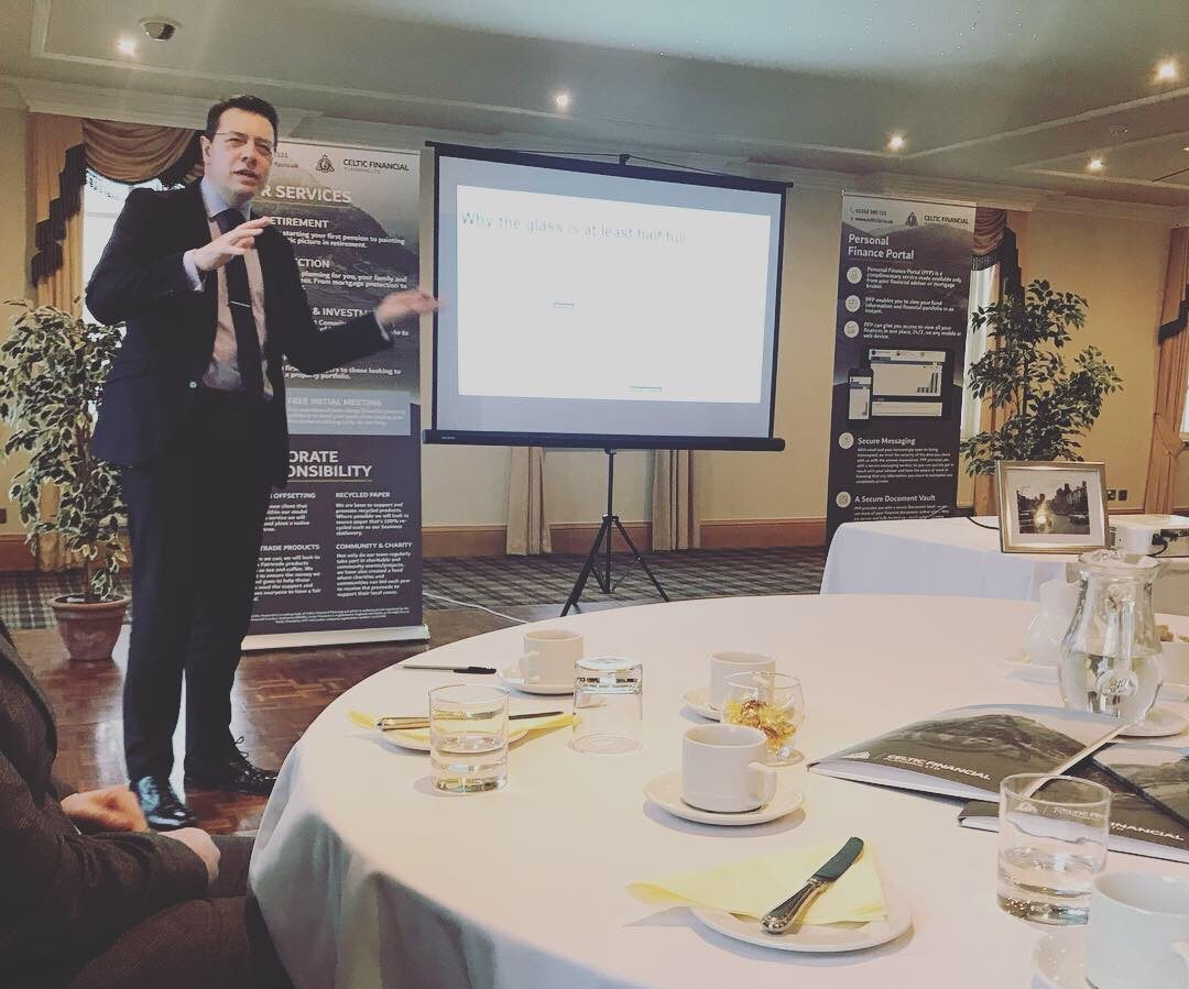 Chris Bailey at Celtic Financial Client Seminar
