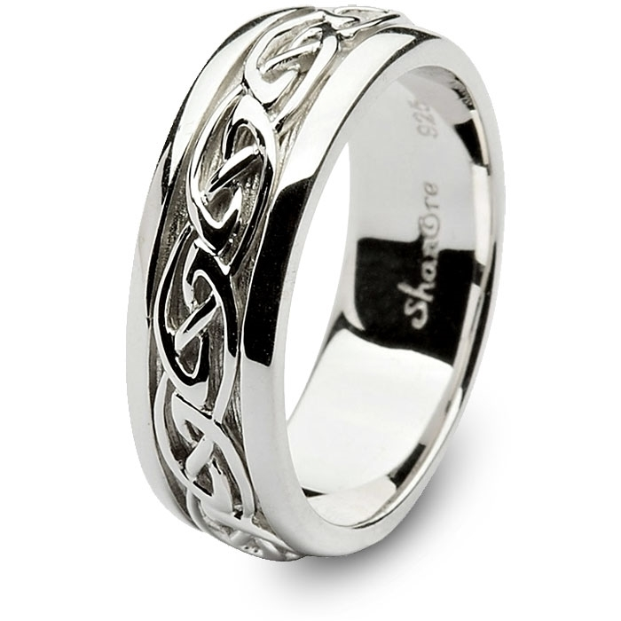 Mens Sterling Silver Celtic Wedding Ring SM SD11