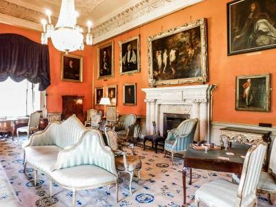 Second Drawing Room in Malahide Castle, Ireland