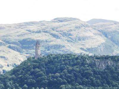 The Abbey Craig and the National Wallace Monument, Stirling, UK