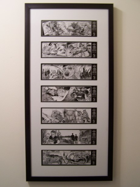 SK bookmarks framed