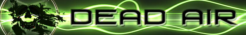 banner for Cemetery Dance's Dead Air column - neon green background with black writing