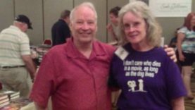 The nicest people at Scares That Care: Joe and Karen Lansdale. (Photo Copyright 2016 Mark Sieber)