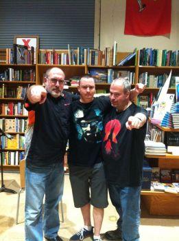 Brian, Lincoln Crisler, and John Urbancik at The Book Tavern in Augusta, Georgia. (Photo Copyright 2016 Brian Keene)