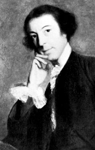 Oil painting of Horace Walpole