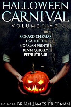 cover of Halloween Carnival Volume 5 showing a person holding a jack o' lantern