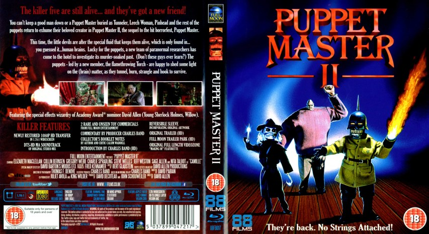 video cover of Puppet Master II vhs