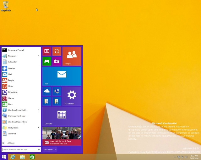 Windows 9 - Başlat Menüsünün Dönüşü!