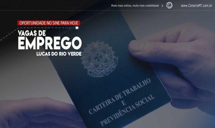 VAGAS DE EMPREGO EM LUCAS DO RIO VERDE 1