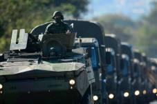 Caminhões militares também participaram do desfile Marcelo Camargo/Agência Brasil