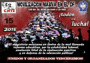 Cartel Marcha Masiva Nacional 15 de julio de 2015(1)