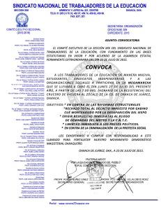 Convocatoria para la megamarcha el 27 de julio de 2015