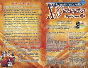 Programa X Guelaguetza Magisterial y Popular 2015