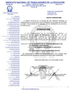 Convocatoria para participar en los foros de denuncia sectoriales o regionales el 31 de octubre de 2015
