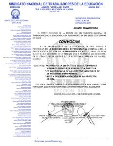 Convocatoria para la concentración representativa estatal los días 9,10 y 11 de diciembre de 2015