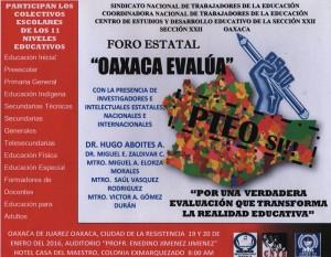 Foro Estatal Oaxaca Evalúa enero 2016