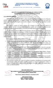 Boletín - Sección XXII repudia llegada de Aurelio Nuño -  22 de febrero de 2016