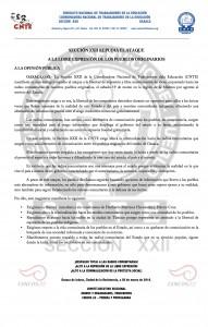 Boletín - Sección XXII repudia el ataque a la libertad de expresión-  20 de marzo de 2016