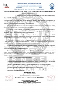 Boletín - A 10 meses de su detención -  7 de abril de 2016