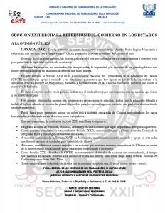 Boletín -  Respaldo a Michoacán - 27 abril 2016