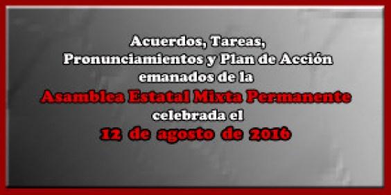 ACUERDOS Asamblea Mixta 12 agosto 2016
