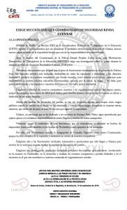 Boletín - EXIGE SECCION 22 QUE COMISIONADO RINDA CUENTAS - 12 septiembre 2016