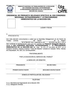 Credenciales presuntos delegados XXII Cong Sec Extr 2017(1:2)