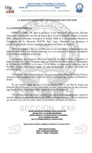 Boletín - LA BASE DETERMINARÁ LAS ACCIONES SECCIÓN XXII- 31 enero 2017