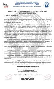 Boletín - LA SECCION XXII AVANZA EN SU POSICIÓN POLÍTICA POR LA ESTABILIDAD EDUCATIVA - 7 febrero 2017