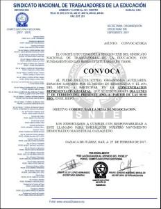 Convocatoria para la concentración estatal el día lunes 27 de febrero de 2017