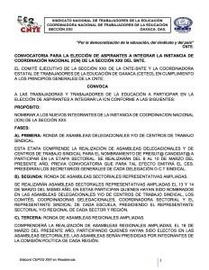 Convocatoria y Actas de Asamblea para la elección de integrantes a la ICN marzo de 2017