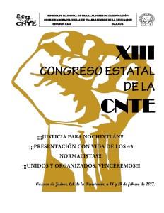 Documento orientador rumbo al XIII Congreso Estatal de la CNTE 18 y 19 de marzo de 2017