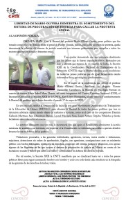 Boletín - LIBERTAD DE MARIO OLIVERA - 22 abril 2017
