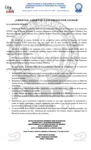 Boletín - LIBERTAD LIBERTAD A LOS PRESOS POR LUCHAR- 17 mayo 2017