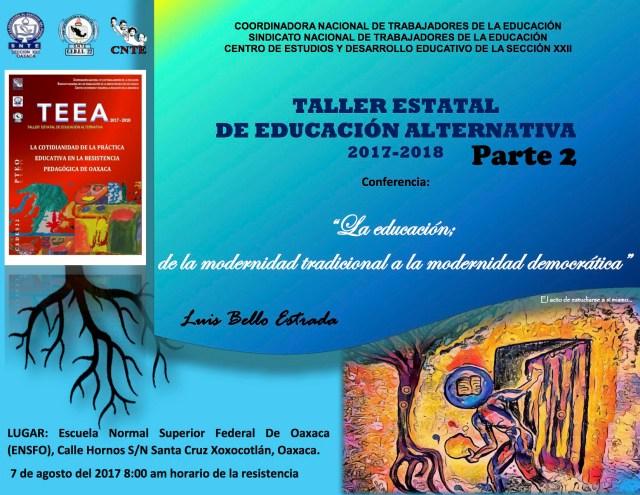 Cartel TEEA 2017 - 2018 Parte 2 copy